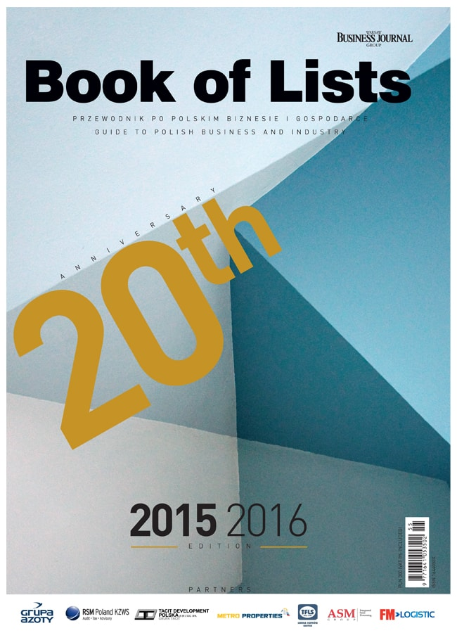Book Of Lists 2015/2016 okladka